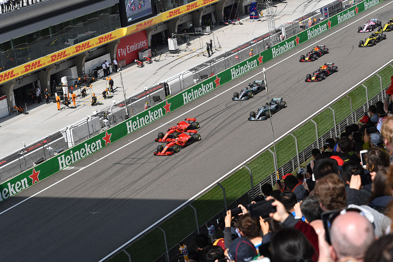 F1第3戦中国GP 決勝スタート