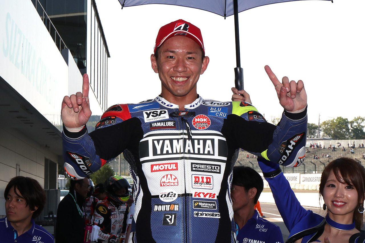 第2戦鈴鹿レース1をポール・トウ・ウィンで終えた中須賀克行