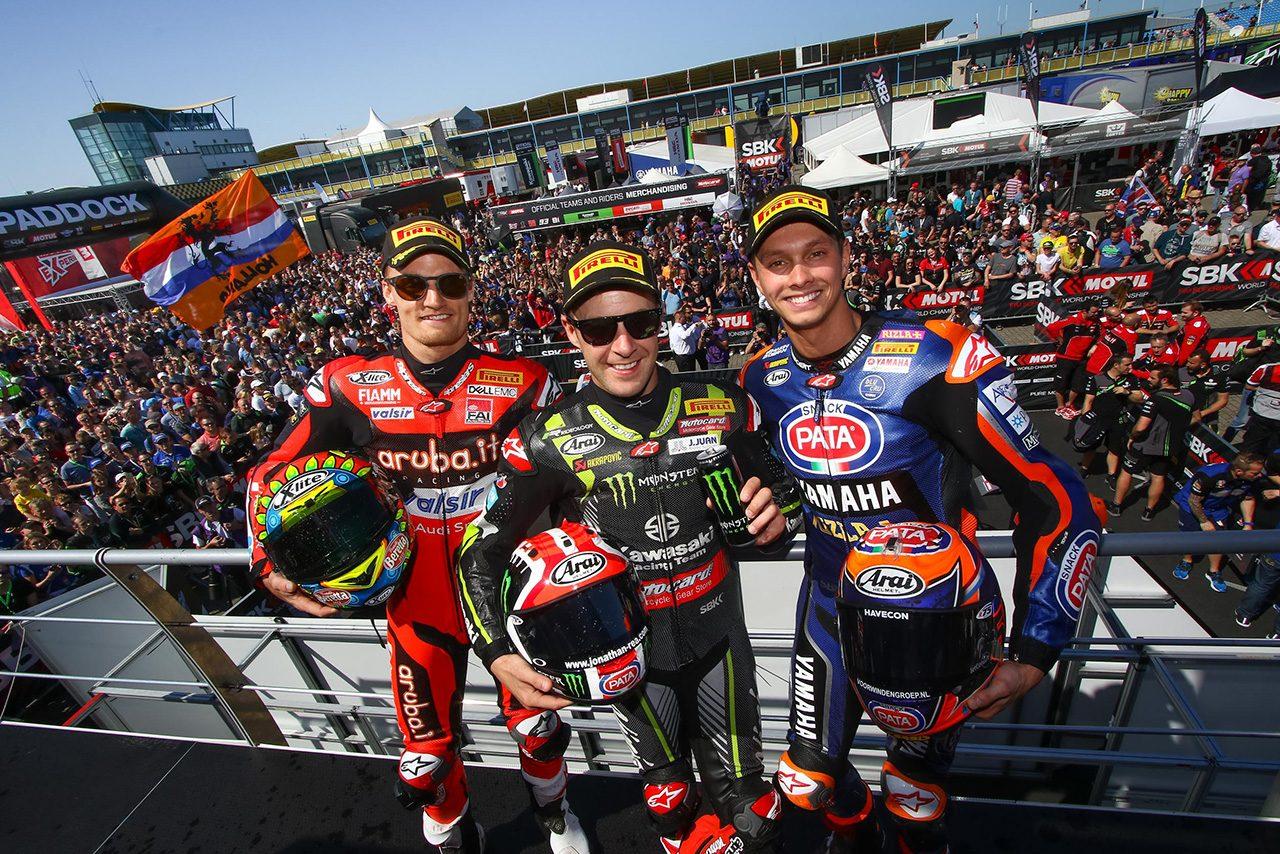 SBK第4戦アッセン レース1表彰式