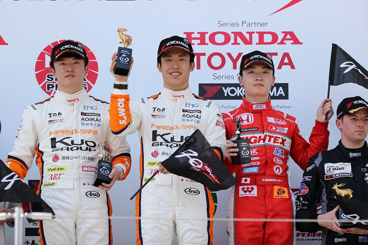 全日本F3:スタートを決めた坪井翔が開幕戦を制す。宮田が続きトムスワン・ツー