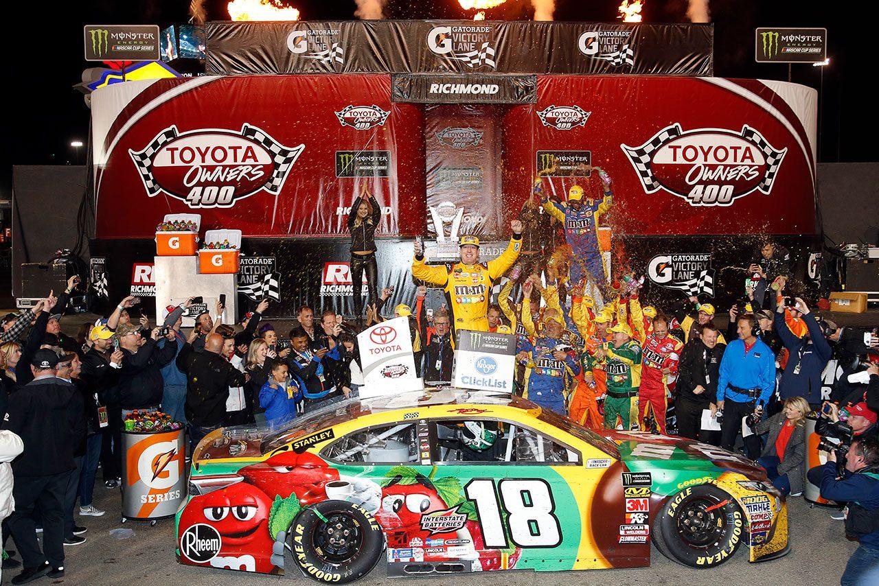 NASCAR第9戦:トヨタ3連勝。ブッシュが得意のリッチモンドで通算5勝目