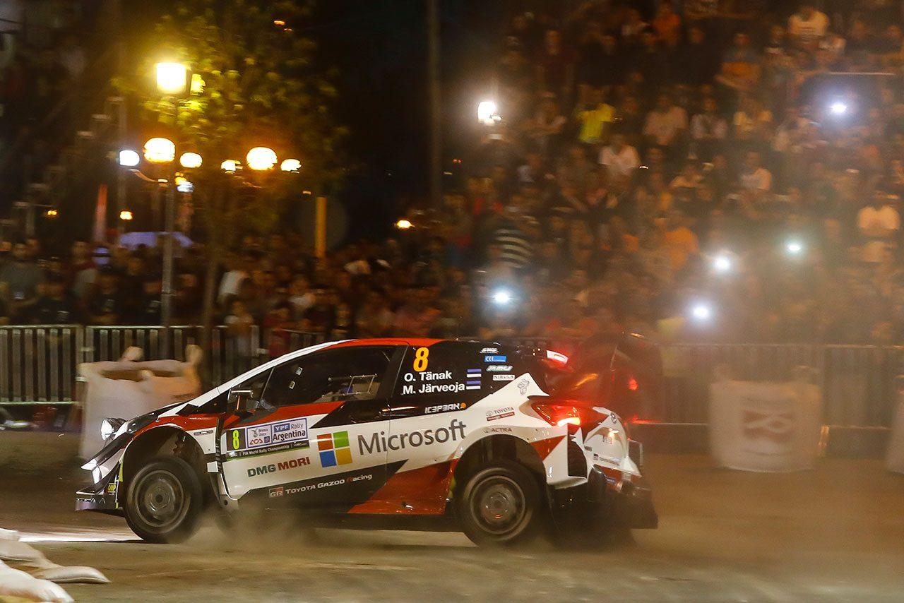 WRCアルゼンチン:SS1でトヨタのタナクが2番手発進。ヒュンダイのヌービル最速