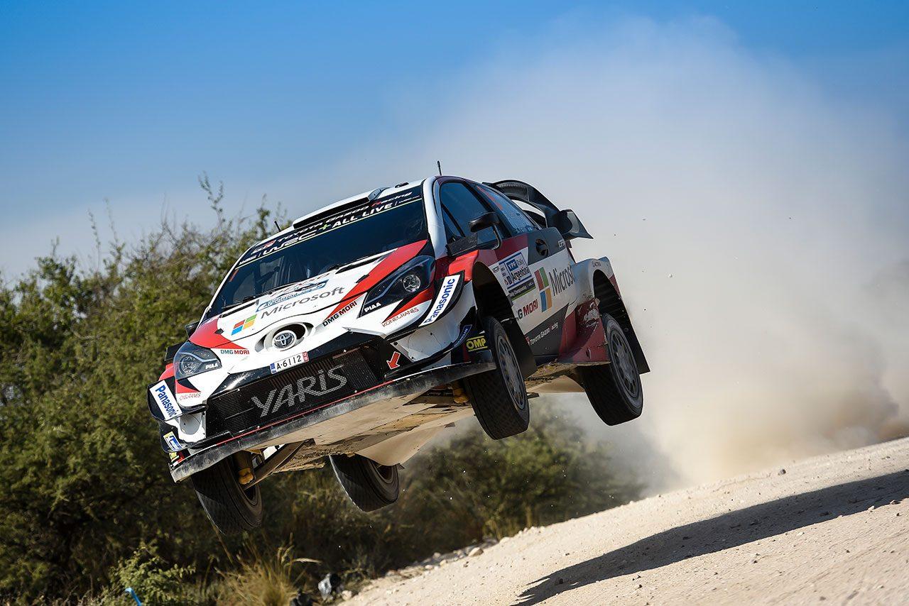 WRCアルゼンチン:トヨタのタナク22秒の大量リードで首位浮上。ラトバラはリタイア