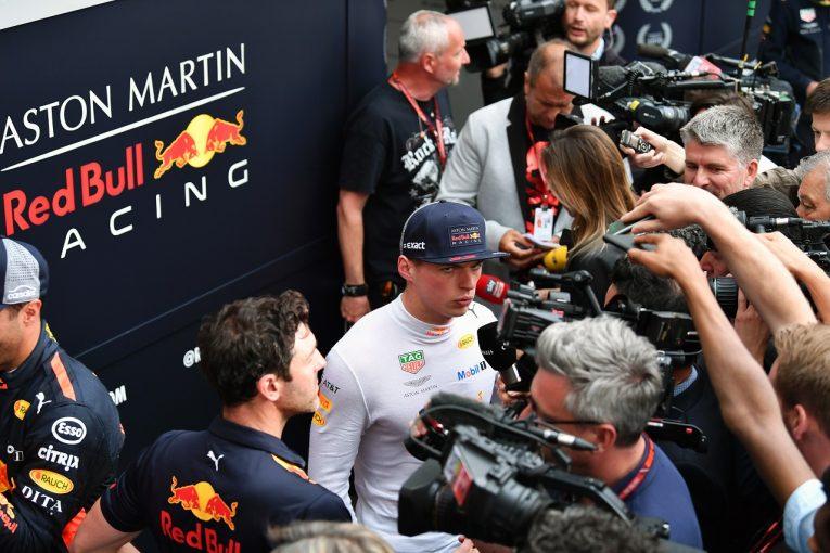 F1   フェルスタッペン「エンジン故障の心配はない。マシンの速さを確認できて満足」レッドブル F1アゼルバイジャンGP金曜