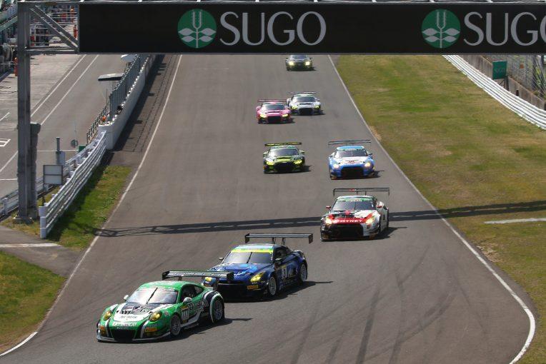 ピレリ・スーパー耐久シリーズ2018第2戦SUGO・グループ1/決勝スタートシーン