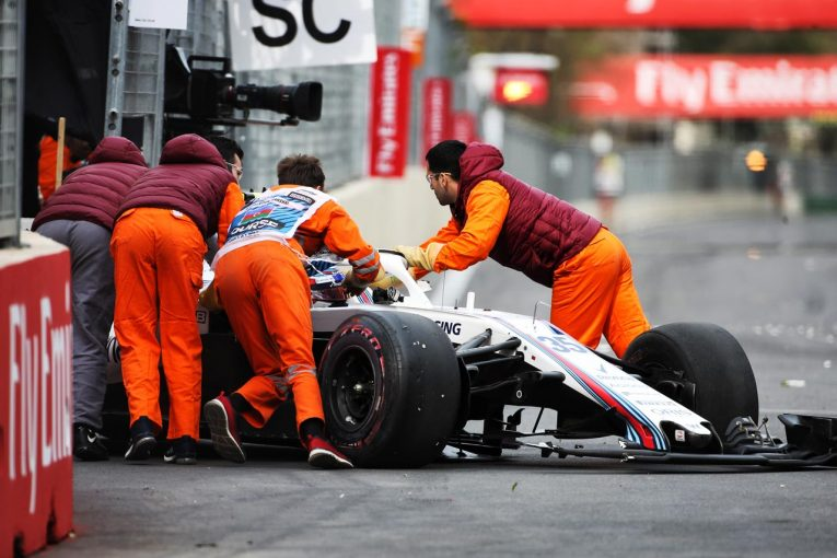 F1 | シロトキン「2台のクルマに挟まれ、どうすることもできなかった」/ウイリアムズ F1アゼルバイジャンGP日曜