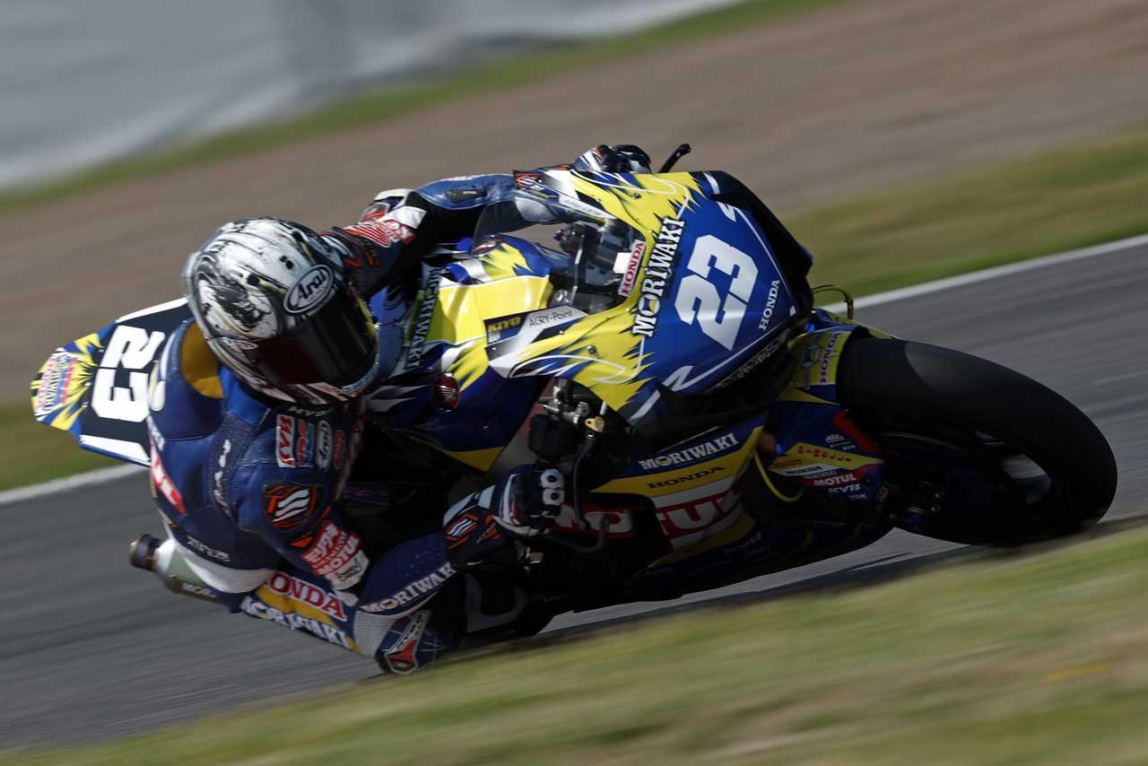 モリワキの清成龍一が英国スーパーバイク選手権第3戦に代役参戦