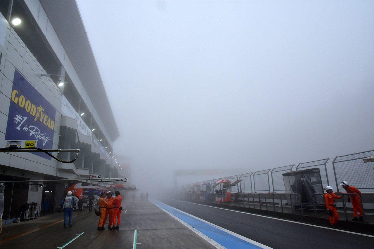 スーパーGT:第2戦富士が開幕も濃霧が立ち込め公式練習はスタートディレイ