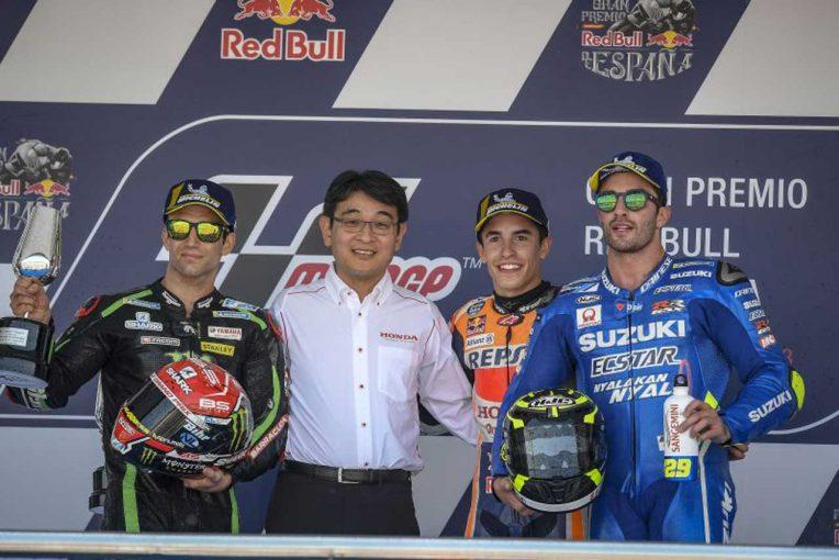 MotoGP | MotoGP:マルケス、ニエトのトロフィーを受け取り「感動した」/スペインGP決勝トップ3コメント