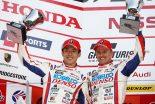 WECスパに出場した小林可夢偉に代わってスーパーGT500クラスデビューを果たした坪井翔がいきなりの2位表彰台獲得