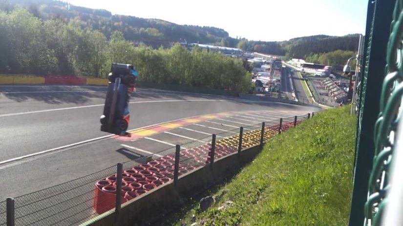 ル・マン/WEC | WECスパ:LMP1マシンが宙を舞う。SMPレーシングの事故映像をファンが投稿