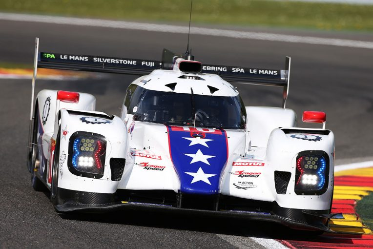 予選セッションでクラッシュしたドラゴンスピードの10号車BRエンジニアリングBR1・ギブソン