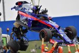 F1 | ハートレー「1cmのミスで人生最大のクラッシュ」。決勝出場目指し、トロロッソ・ホンダはマシン修復とパワーユニット交換に追われる