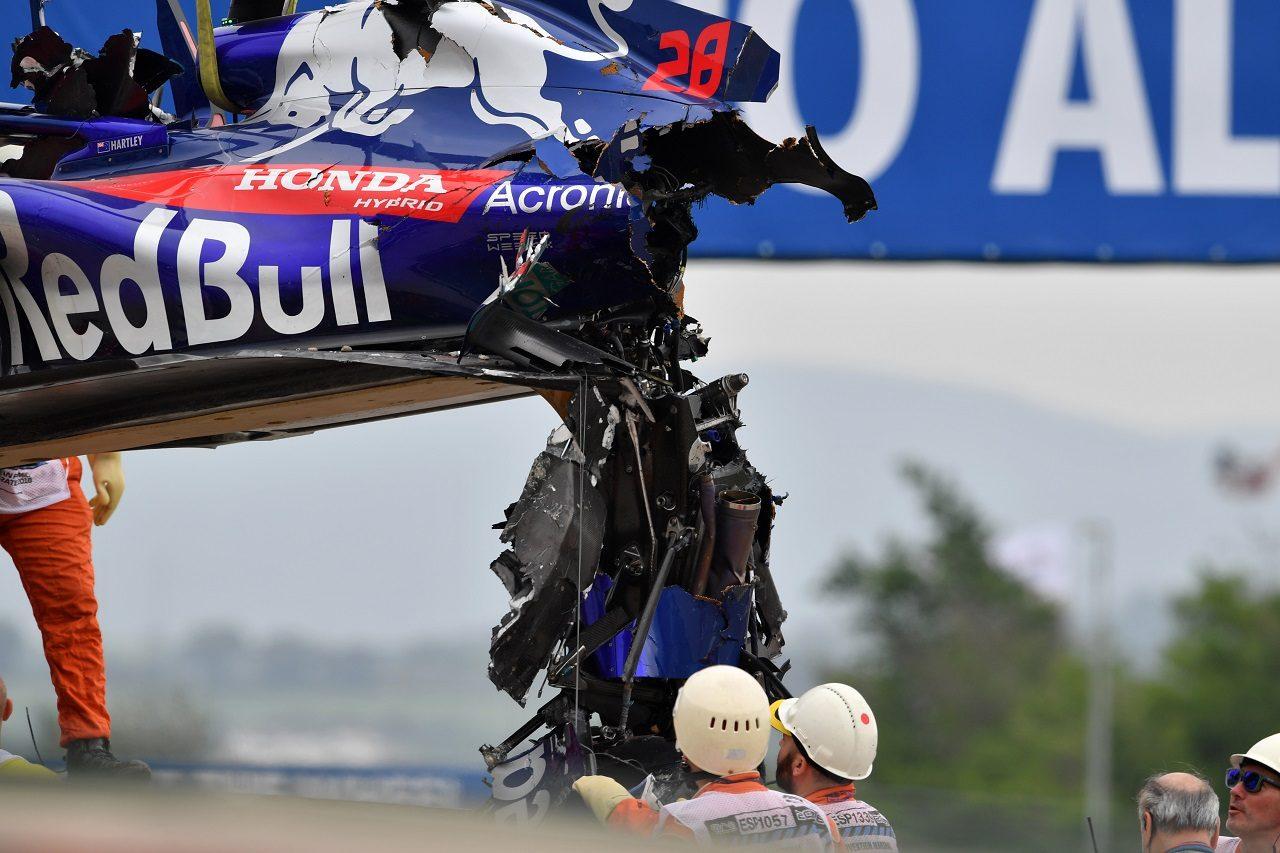 2018年F1第5戦スペインGP ブレンドン・ハートレー(トロロッソ・ホンダ)がFP3で大クラッシュ