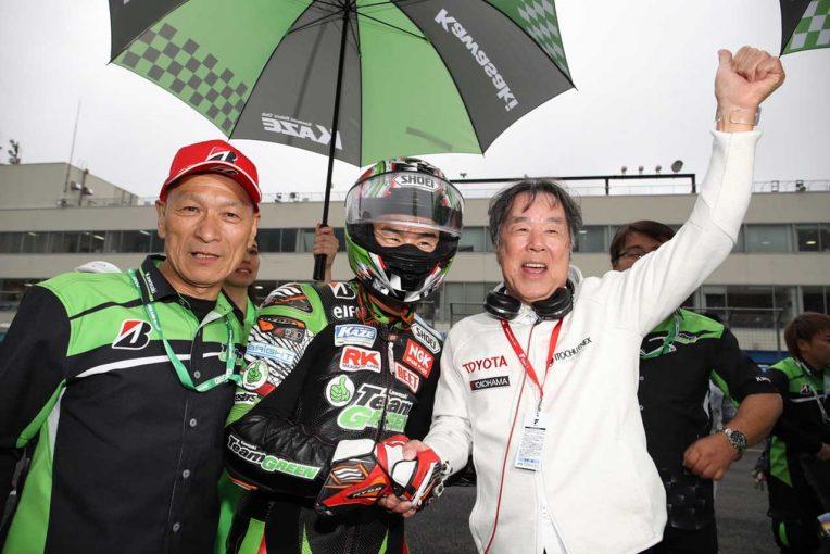 MotoGP | カワサキ渡辺一馬がスリックで大逆転。柳川明以来11年ぶり優勝、松﨑2位で地元ワン・ツー飾る/全日本第3戦決勝レポート