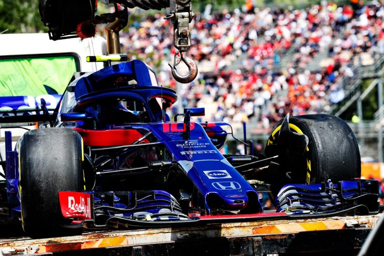F1 | ホンダ田辺TD「ポイント獲得を狙っていただけに、0周リタイアは残念」F1スペインGP日曜