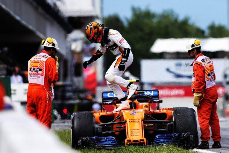 F1 | バンドーン「終盤のポジションアップを狙っていたが、トラブルでマシンを止める結果に」F1スペインGP日曜
