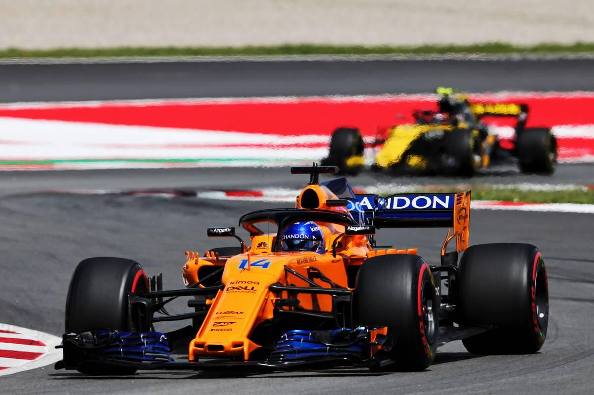 M2018年F1スペインGP フェルナンド・アロンソ マクラーレン カルロス・サインツjr  ルノー