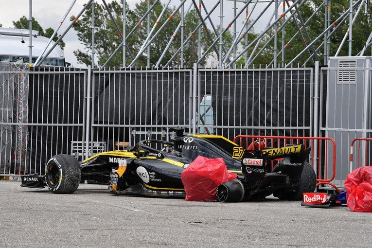 F1   ヒュルケンベルグ「あっという間のことでグロージャンを避けられなかった」ルノー F1スペインGP日曜