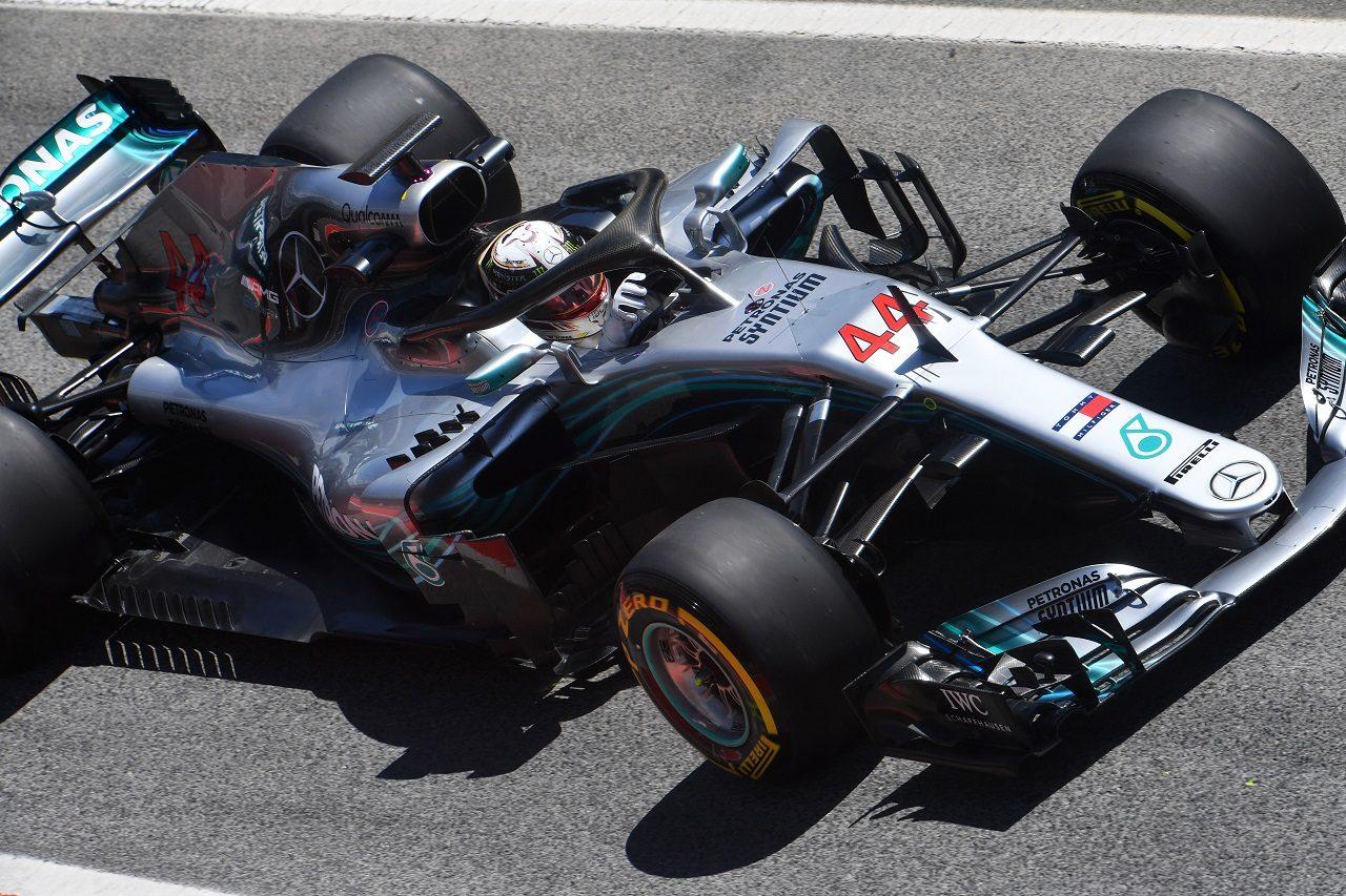 2018年F1バルセロナ・インシーズンテスト ルイス・ハミルトン(メルセデス)