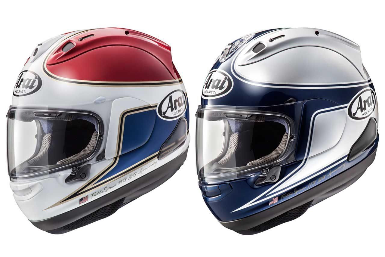 アライヘルメット、フレディ・スペンサーモデルのRX-7Xを2色発売