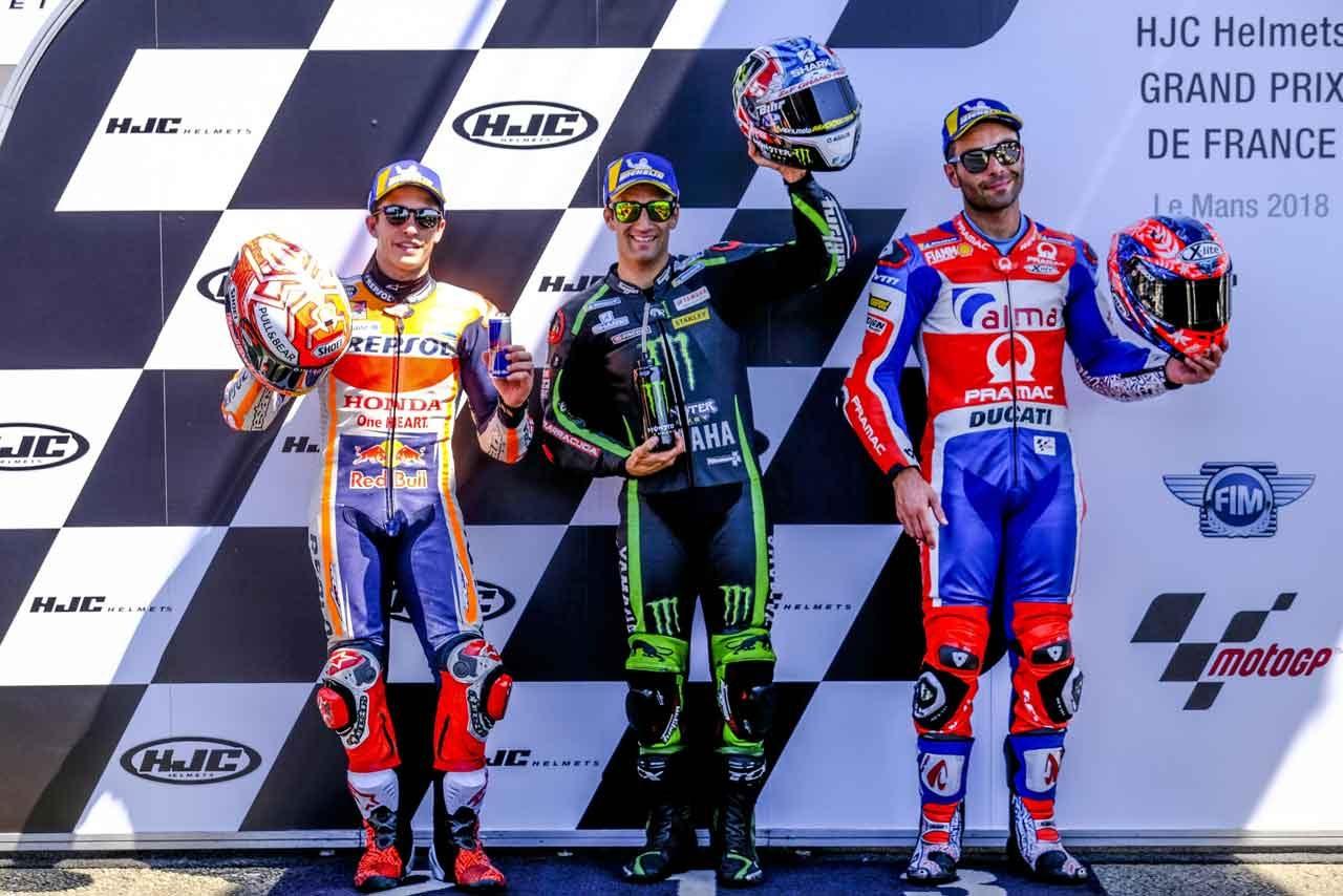 MotoGP:母国でポールを獲得したザルコ「感動的で素晴らしい気分だ」/フランスGP予選トップ3コメント