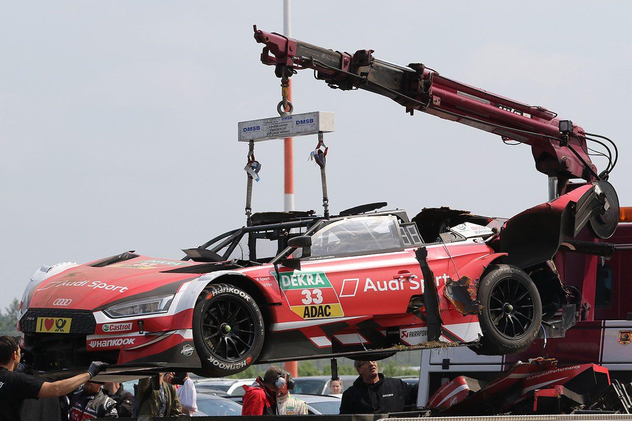 DTM:大クラッシュ演じたレネ・ラスト、レントゲン検査で異常なしもレース2欠場