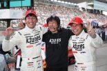 スーパーGT第3戦、GT300クラスを制したK-tunes RC F GT3の中山雄一と新田守男、影山正彦監督
