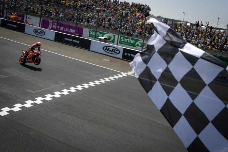 MotoGP | MotoGPフランスGP決勝:マルケスが3連勝しストーナーの勝利記録に並ぶ。ロッシは開幕以来の表彰台獲得
