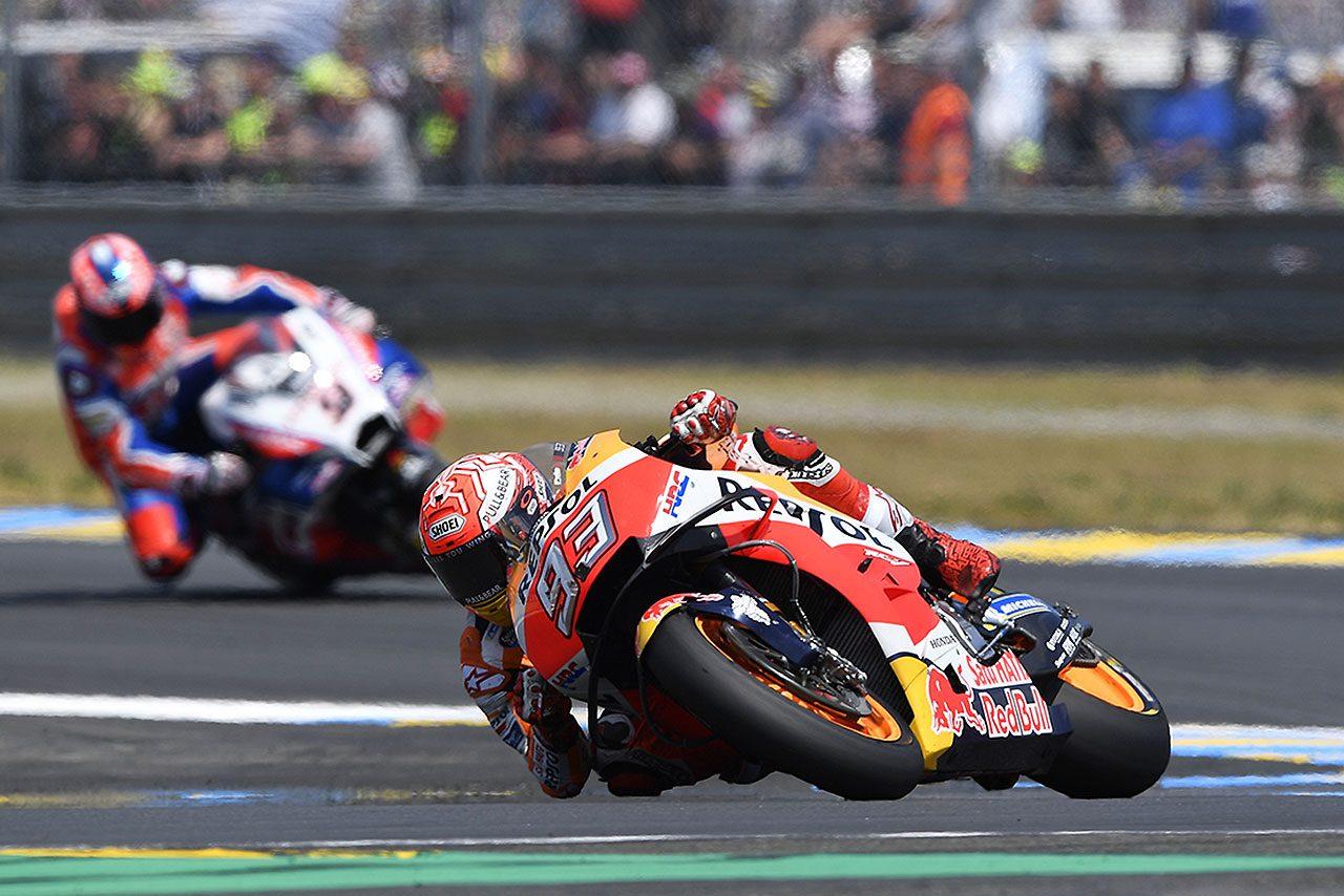 MotoGP:マルケスだけがリヤに選んだハードタイヤ。「レースへのアプローチがほかと違っていた」