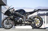 トライアンフのMoto2エンジン開発テスト車(サイド)