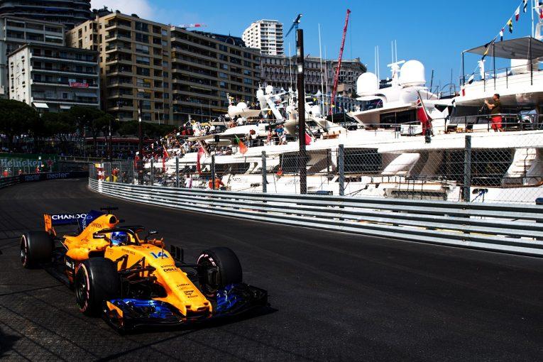 F1 | アロンソ「2年前より数秒速い予選が楽しみ。トラブルでの遅れを取り戻し、完璧なラップを走りたい」マクラーレン F1モナコGP木曜