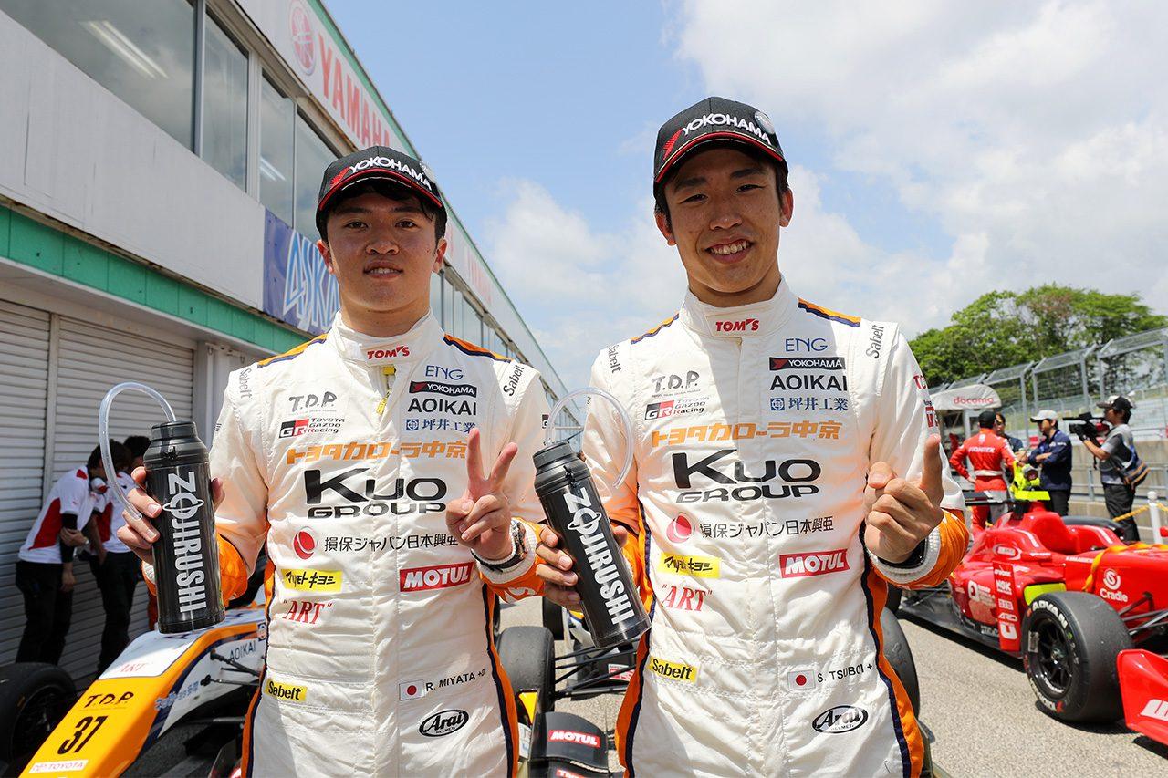 全日本F3第4戦SUGO:坪井が開幕4連勝。2位は宮田、3位は阪口に