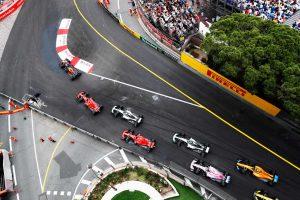 2018年F1第6戦モナコGP スタートシーン