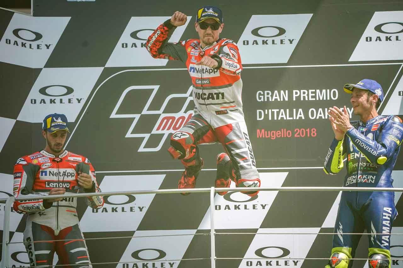 MotoGP:ロレンソ、ドゥカティでは勝てないと批判を受けたが「ついにやり遂げた」/イタリアGP決勝トップ3コメント
