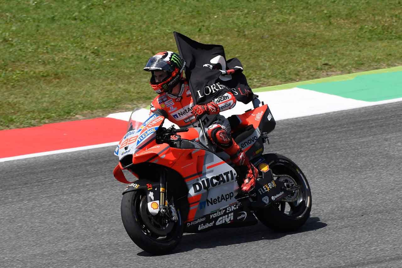 MotoGPイタリアGP決勝:ロレンソがドゥカティ初優勝で1-2フィニッシュを飾る。ロッシは意地の3位表彰台