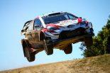ラリー/WRC | WRC第7戦:王座争うオジエとヌービルが3.9秒差の優勝争い。トヨタは表彰台獲得に王手