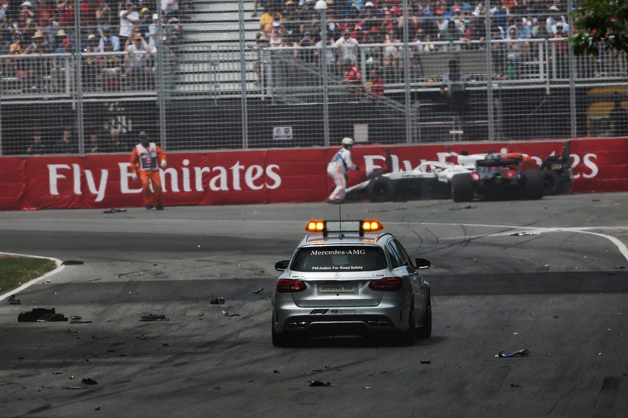 2018年F1第7戦カナダGP ランス・ストロールとブレンドン・ハートレーが大クラッシュ