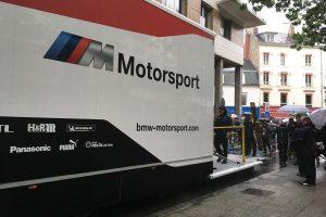 ル・マンデビューを果たすBMWチームMTEKのトランスポーター