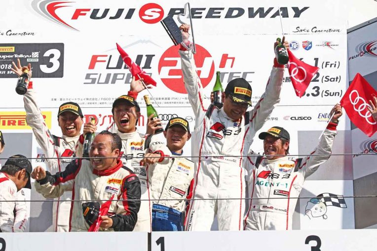 スーパー耐久第3戦富士 表彰台