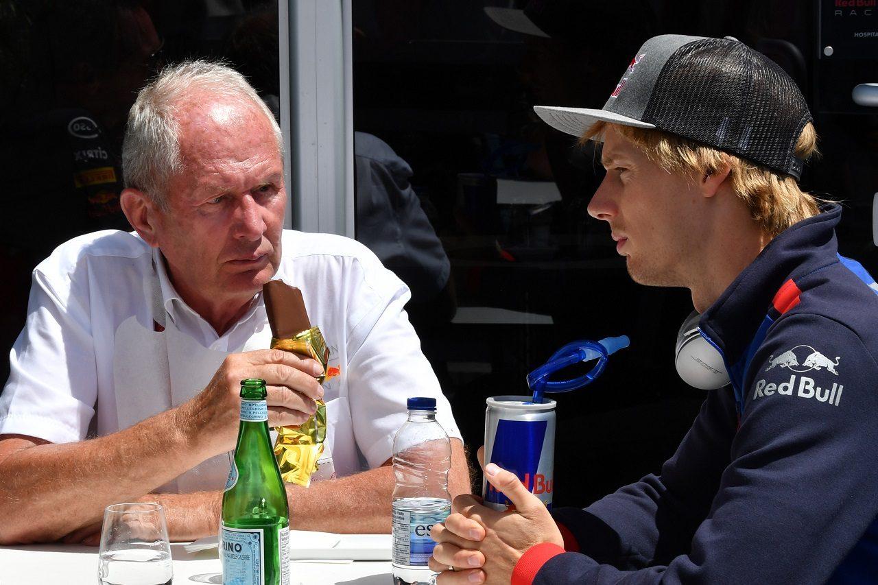 2018年F1第7戦カナダGP レッドブルのヘルムート・マルコとブレンドン・ハートレー(トロロッソ・ホンダ)