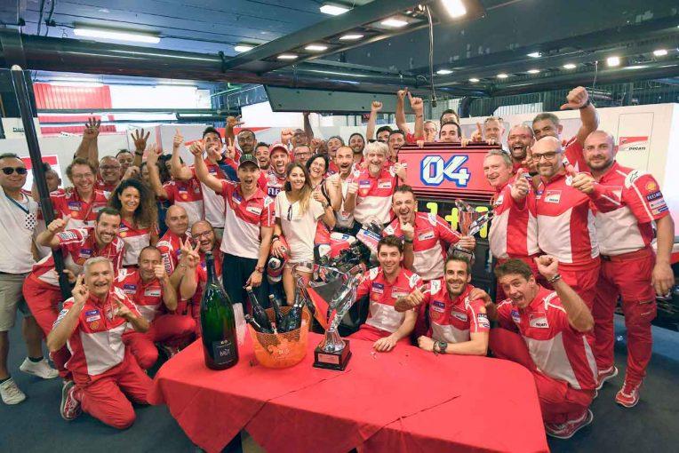 2017MotoGP第7戦カタルーニャGP 優勝のドゥカティ・チーム