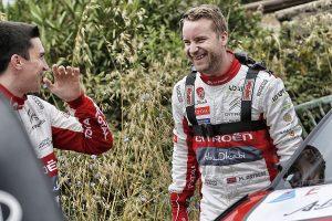 WRC第7戦イタリアに臨んだクレイグ・ブリーン(左)とマッズ・オストベルグ(右)