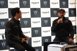 野田氏と佐川氏によるトークショーのなかでは、Moto2エンジンについて触れられる一幕も