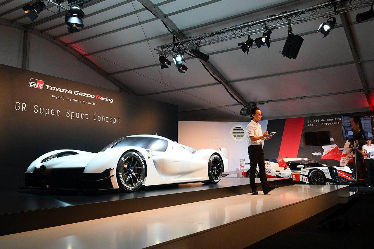 トヨタ、『GRスーパースポーツ・コンセプト』をル・マンでお披露目。20年規定への対応も含み