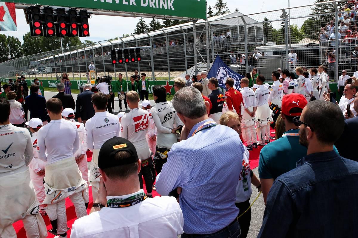 2018年F1カナダGP オープニングセレモニーでの国歌斉唱