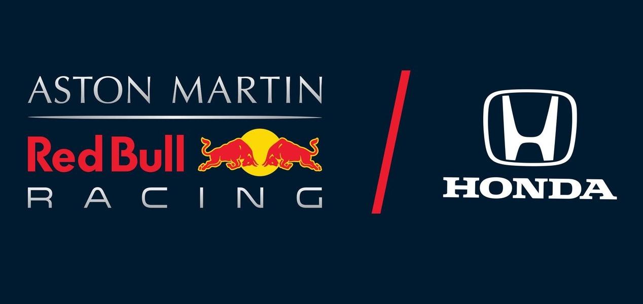 アストンマーチン・レッドブル・レーシングとホンダのロゴ