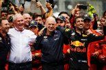 F1 | 2018年F1モナコGP レッドブル クリスチャン・ホーナー Dr ヘムルート・マルコ エイドリアン・ニューウェイ ダニエル・リカルド