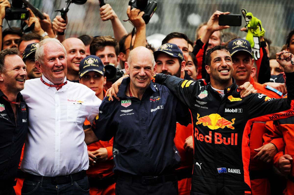2018年F1モナコGP レッドブル クリスチャン・ホーナー Dr ヘムルート・マルコ エイドリアン・ニューウェイ ダニエル・リカルド