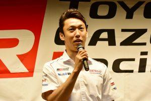トヨタのル・マン24時間優勝メディア報告会に出席した中嶋一貴